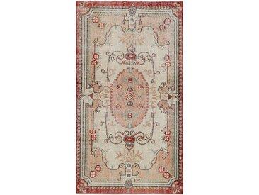 Tapis Fait Main Vintage Royal 211x116 Coureur Beige/Rose (Laine, Perse/Iran)
