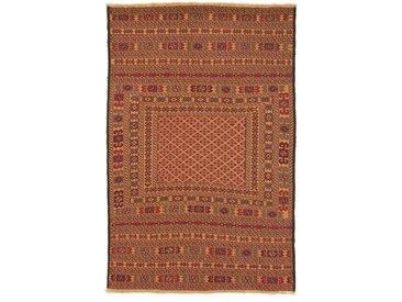 Tapis D'orient Kilim Nimbaft 186x125 Marron/Orange (Noué à la main, Afghanistan, Laine)