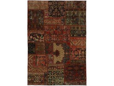 Tapis Patchwork Malayer 201x139 Gris Foncé/Marron (Laine, Perse/Iran, Noué à la main)