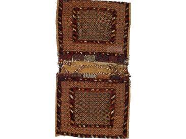 Tapis Persan Kilim Tasche Nomaden 89x59 Kilim Tasche Nomaden Gris Foncé/Marron (Noué à la main, Perse/Iran, Laine)