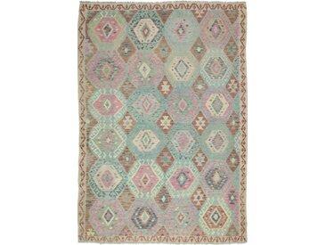 Tapis Kilim Afghan Heritage 291x202 Moderne/Design Gris/Marron Foncé (Tissé à la main, Laine, Afghanistan)