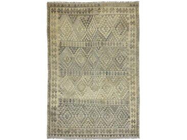 Tapis Kilim Afghan Heritage 296x194 Moderne/Design Gris/Beige (Tissé à la main, Laine, Afghanistan)