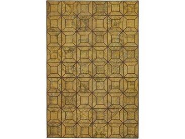 Tapis Patchwork 276x182 Moderne/Design Marron (Noué à la main, Laine, Perse/Iran)