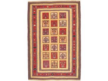 Tapis D'orient Nimbaft 195x129 Marron Foncé/Violet (Laine, Perse/Iran, Noué à la main)