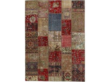 Tapis Patchwork 237x171 Moderne/Design Beige/Rouille (Noué à la main, Laine, Perse/Iran)