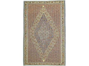 Tapis D'orient Kilim Senneh 306x201 Beige/Marron Foncé (Laine, Perse/Iran, Noué à la main)