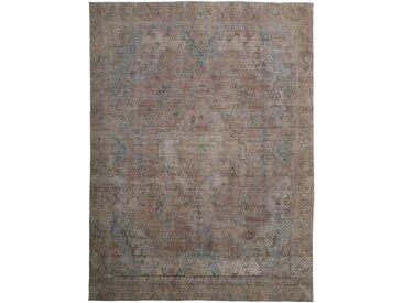Tapis Vintage Royal 367x271 Gris Foncé/Marron Foncé (Laine, Perse/Iran, Noué à la main)