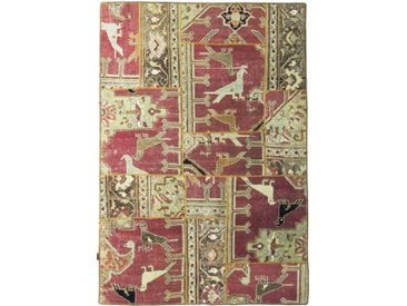 Tapis Patchwork 208x142 Beige/Rouge (Laine, Perse/Iran, Noué à la main)