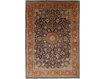 Tapis Persan Sarough 396x279 Sarough Gris Foncé/Marron (Noué à la main, Perse/Iran, Laine)