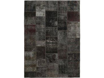 Tapis Patchwork 239x169 Moderne/Design Gris Foncé/Marron Foncé (Noué à la main, Laine, Perse/Iran)