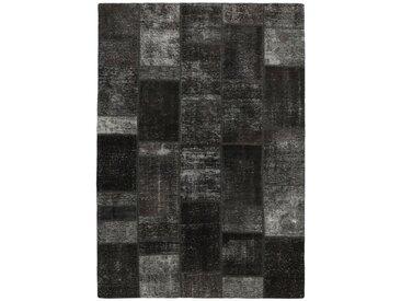 Tapis Patchwork 236x168 Gris Foncé (Laine, Perse/Iran, Noué à la main)