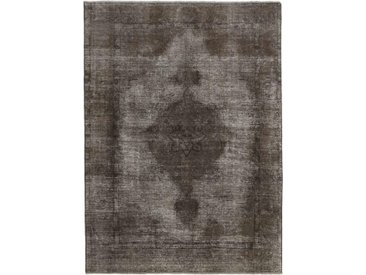 Tapis Vintage Royal 268x194 Gris Foncé/Marron Foncé (Laine, Perse/Iran, Noué à la main)