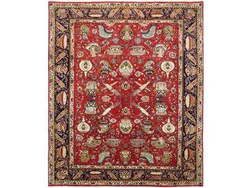 Tapis D'orient Tabriz 264x217 Rouille/Rose (Perse/Iran, Laine, Noué à la main)