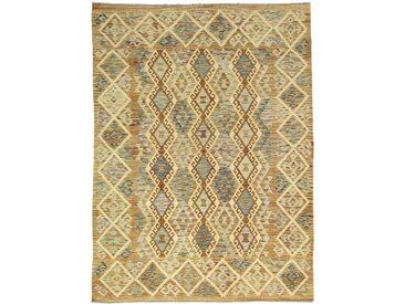 Tapis D'orient Kilim Afghan Heritage 241x175 Beige/Marron (Afghanistan, Laine, Tissé à la main)