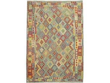Tapis Kilim Afghan Heritage 285x203 Moderne/Design Gris Foncé/Olive Verte (Tissé à la main, Laine, Afghanistan)