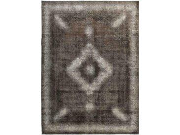 Tapis Vintage Royal 385x284 Gris Foncé/Marron Foncé (Laine, Perse/Iran, Noué à la main)