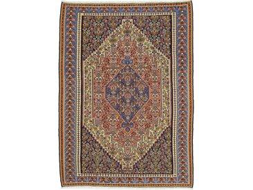 Tapis Kilim Senneh 286x210 Gris Foncé/Violet (Laine, Perse/Iran, Noué à la main)