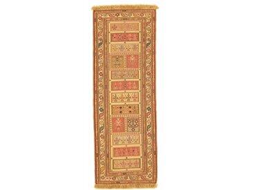 Tapis Persan Kilim Sirjan 203x73 Kilim Sirjan Beige/Orange (Noué à la main, Perse/Iran, Laine)