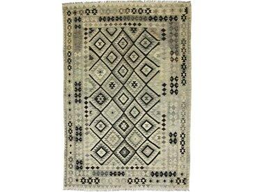 Tapis Kilim Afghan Heritage 291x198 Moderne/Design Beige/Marron Foncé (Tissé à la main, Laine, Afghanistan)