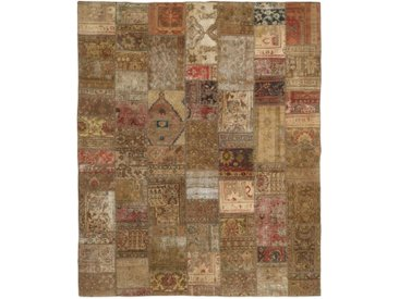 Tapis Fait Main Patchwork 308x251 Beige/Marron (Laine, Perse/Iran)