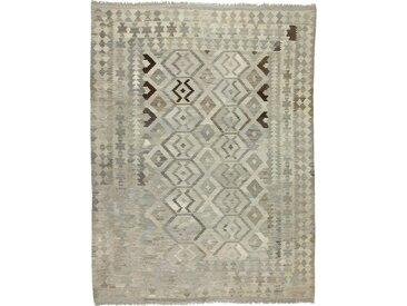 Tapis Authentique Kilim Afghan Heritage 288x220 Beige/Olive Verte (Laine, Afghanistan, Tissé à la main)