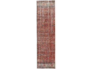 Tapis Vintage Royal 305x80 Coureur Beige/Rouge (Laine, Perse/Iran, Noué à la main)