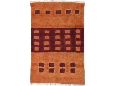 Tapis Fait Main Kilim Gabbeh Nimbaft 171x113 Marron/Orange (Laine, Perse/Iran)