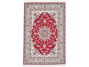 Tapis Persan Tabriz 50Raj 149x101 Tabriz 50Raj Rouille/Violet (Noué à la main, Perse/Iran, Laine/Soie)