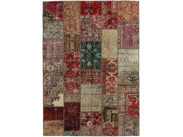 Tapis Patchwork 244x172 Moderne/Design Gris Foncé/Marron Foncé (Noué à la main, Laine, Perse/Iran)
