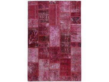 Tapis Fait Main Patchwork 211x144 Rouille/Violet (Laine, Perse/Iran)