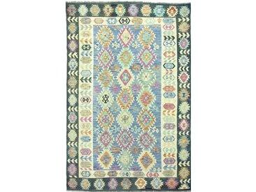 Tapis D'orient Kilim Afghan Heritage 300x195 Beige/Olive Verte (Tissé à la main, Afghanistan, Laine)