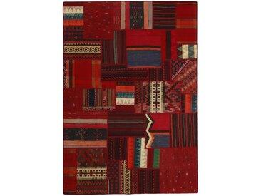 Tapis Kilim Patchwork 229x158 Marron/Rouille (Laine, Perse/Iran, Noué à la main)