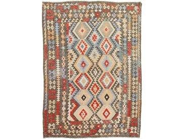 Tapis Kilim Afghan Heritage 286x206 Moderne/Design Gris/Marron Foncé (Tissé à la main, Laine, Afghanistan)