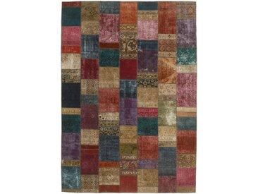 Tapis Fait Main Patchwork 359x252 Marron Foncé/Rouille (Laine, Perse/Iran)