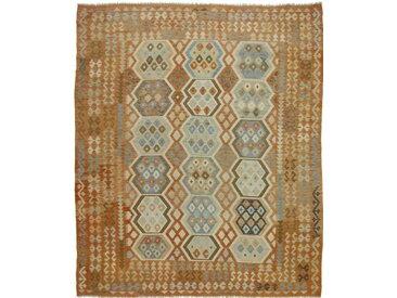 Tapis Authentique Kilim Afghan Heritage 290x243 Beige/Marron (Laine, Afghanistan, Tissé à la main)