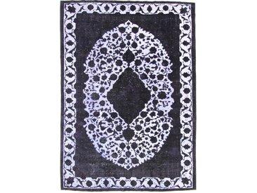 Tapis Vintage Royal 387x282 Gris Foncé/Bleu Foncé (Laine, Perse/Iran, Noué à la main)