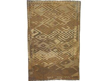 Tapis Kilim Afghan Heritage 253x165 Moderne/Design Marron (Tissé à la main, Laine, Afghanistan)