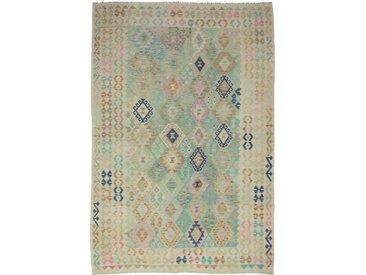 Tapis Kilim Afghan Heritage 288x200 Moderne/Design Gris/Beige (Tissé à la main, Laine, Afghanistan)