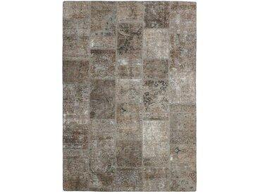 Tapis Patchwork 231x166 Moderne/Design Gris Foncé/Marron Foncé (Noué à la main, Laine, Perse/Iran)