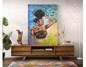 Peinture Africa multicolore 100x140 cm acrylique sur toile
