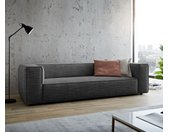 Grand canapé Around the Block 260x105 passepoil à ressorts gris par W. Schillig