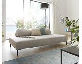 Chaise longue Puzzle 225x110 gris argenté couverture câlin de W. Schillig