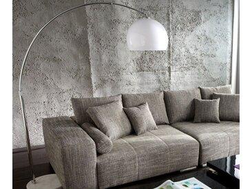 Lampadaire Big Deal XL lounge blanc marbre réglable en hauteur