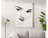 Peinture Audrey blanc 120x170 cm acrylique sur toile