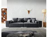 Grand canapé Marbeya 285x115 cm Graphite avec 10 coussins Canapé XXL