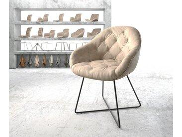 Fauteuil Gaio Flex beige vintage X cadre noir