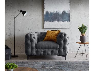 Fauteuil de salon en graphite Corleone 120x97 cm fauteil lounge