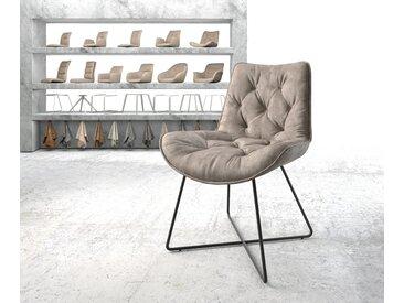 Chaise de salle à manger Taimi Flex taupe vintage X cadre noir