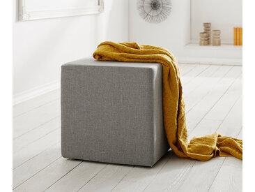 Siège cubique Dado 45x45 cm tabouret gris