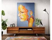 Peinture Sad Girl multicolore 120x170 cm acrylique sur toile